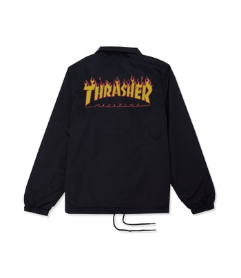 Thrasher Flame Satin Coach Jacket
