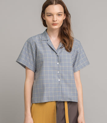 Light Shirt - Blue Check