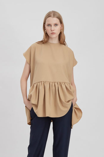 Shop At Velvet Scout Top Beige