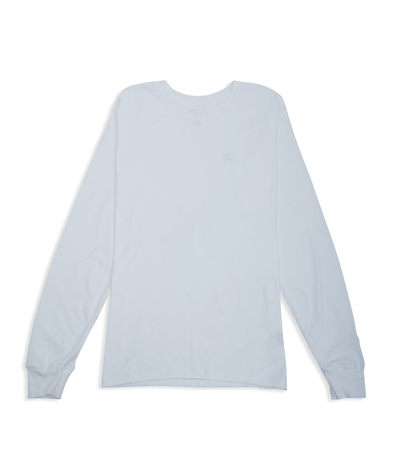 Classic Jersey Long Sleeve Tee White