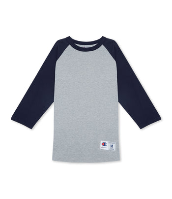 Raglan Baseball T-Shirt Oxford Grey/Navy