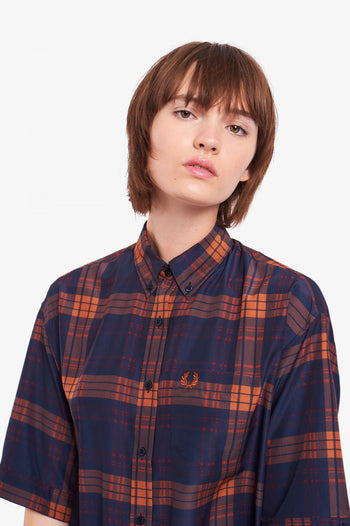 Fred Perry Printed Oversized Shirt Dress