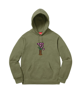 SUPREME Flowers Hooded Sweatshirt