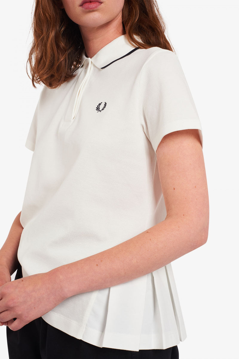 Fred Perry Pleated Polo Shirt