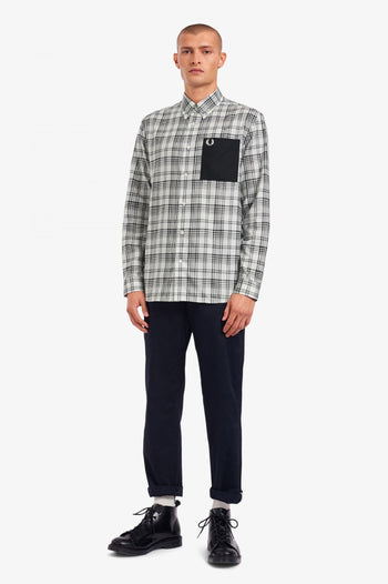 Fred Perry Monochrome Check Patch Pocket Shirt