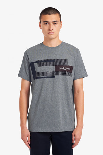 Fred Perry Mixed Graphic T-Shirt
