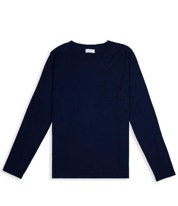 Saturdays NYC Mason Gauze Linen L/S Tee