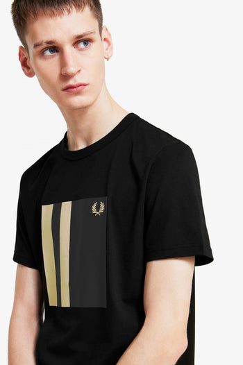 Fred Perry Tipped Graphic T-Shirt