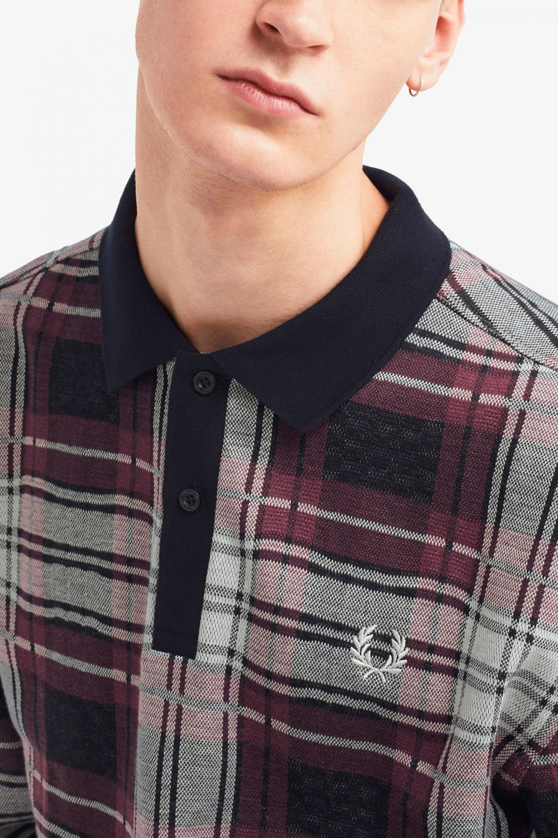 Fred Perry Jaquard Check Polo Shirt