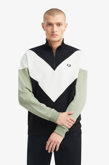 Fred Perry Chevron Half Zip Sweatshirt