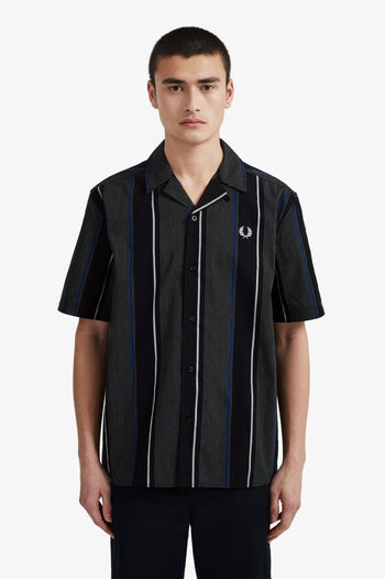 Fred Perry Vertical Stripe Revere Collar