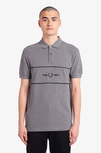Fred Perry Embroidered Panel Polo Shirt