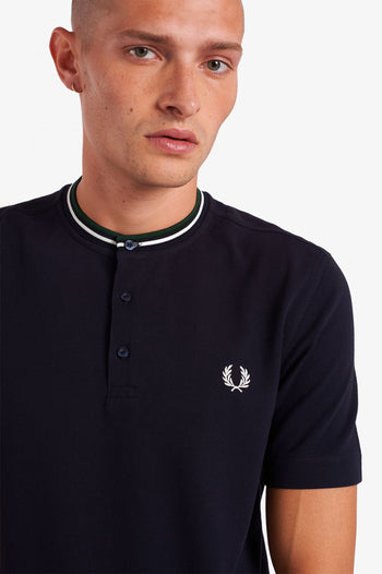 Fred Perry Striped Neck Henley T-Shirt