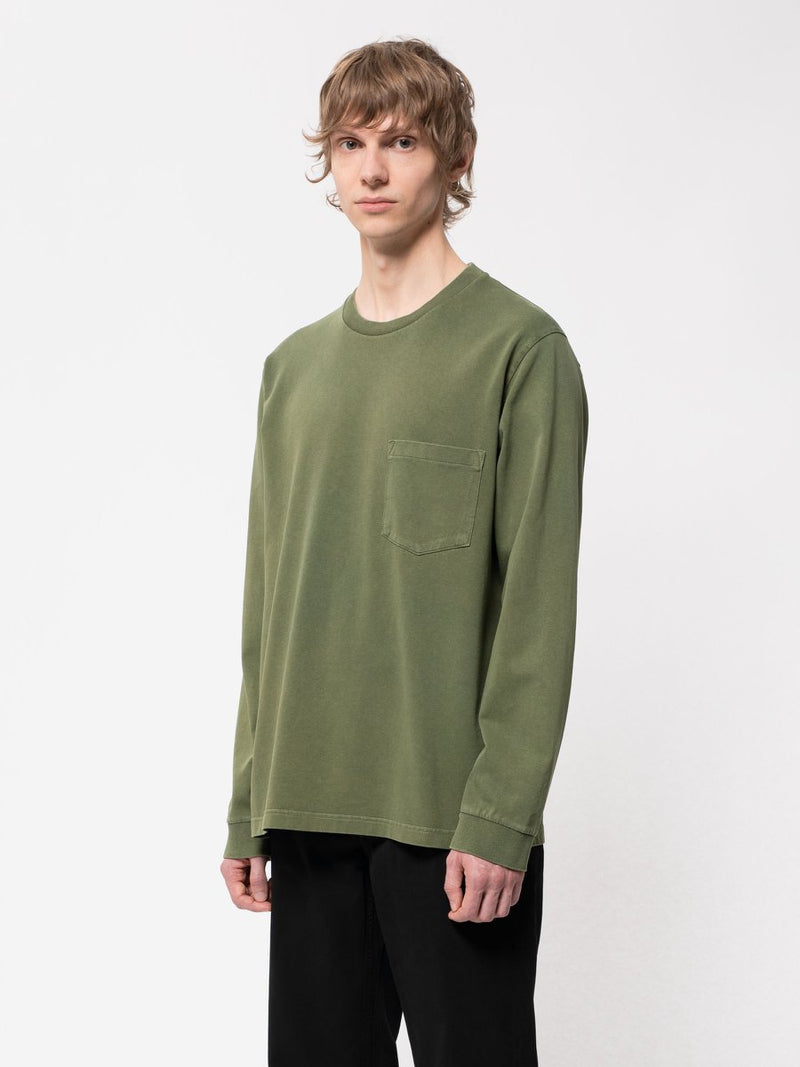 Nudie Rudi Heavy Pocket Tee Olive