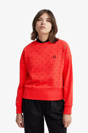 Fred Perry Amy Polkadot Sweatshirt