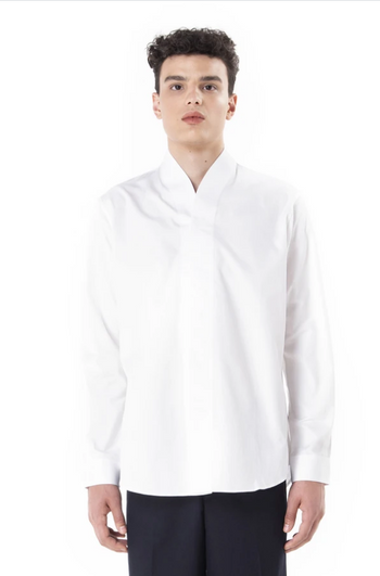 Jansober White Collarless Part II Longsleeves