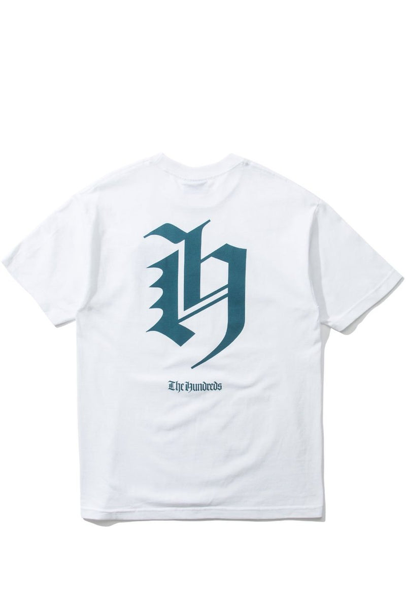 THE HUNDREDS JERSEY H T-SHIRT MENS WHITE REGULAR FIT SKATE TEE HOLIDAY 18