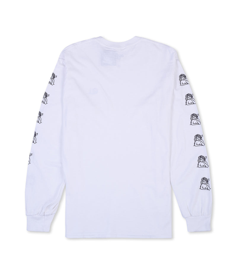 Smoking Girl Long Sleeve T