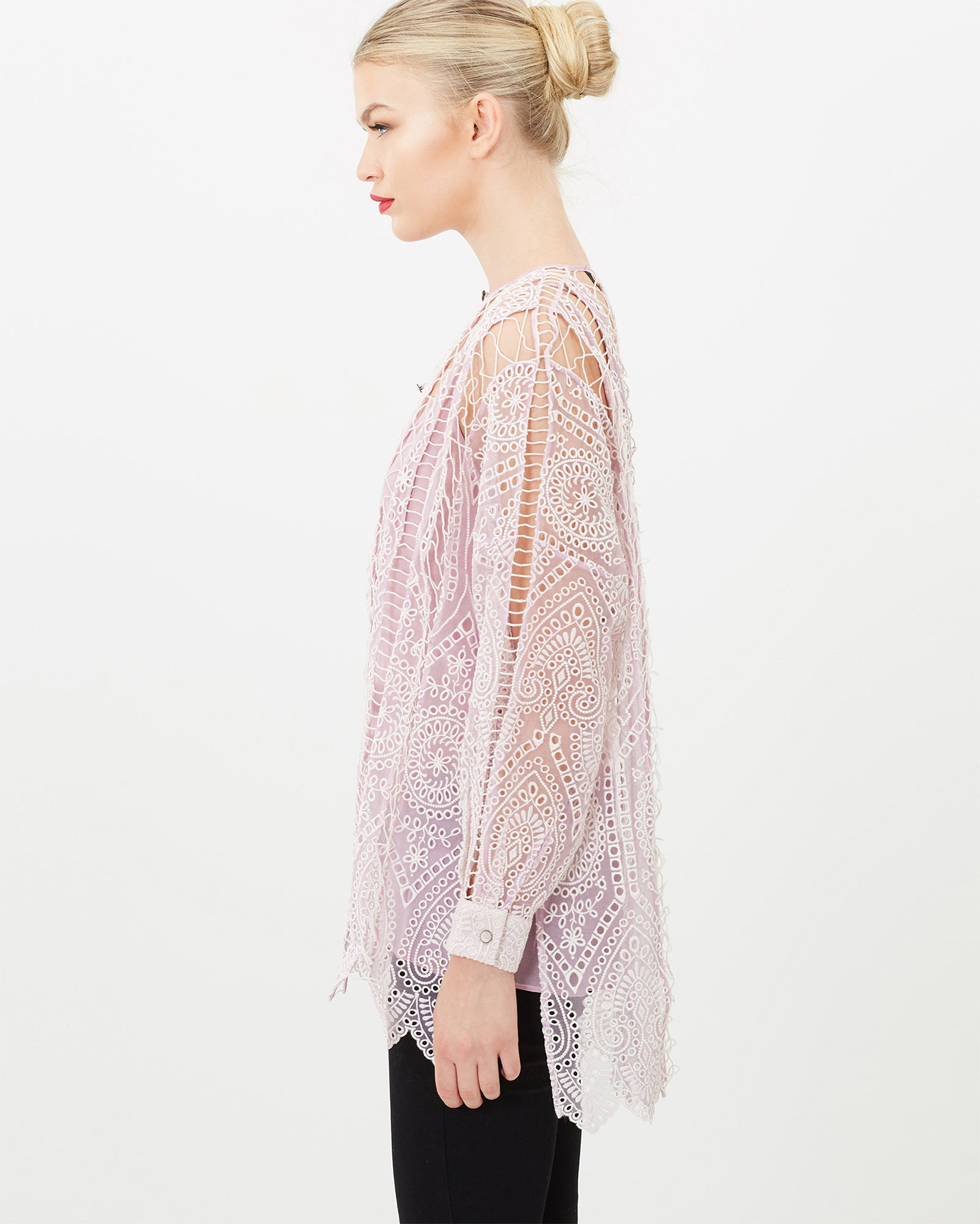 BOHEMIAN LONG SLEEVE RELAXED TOP