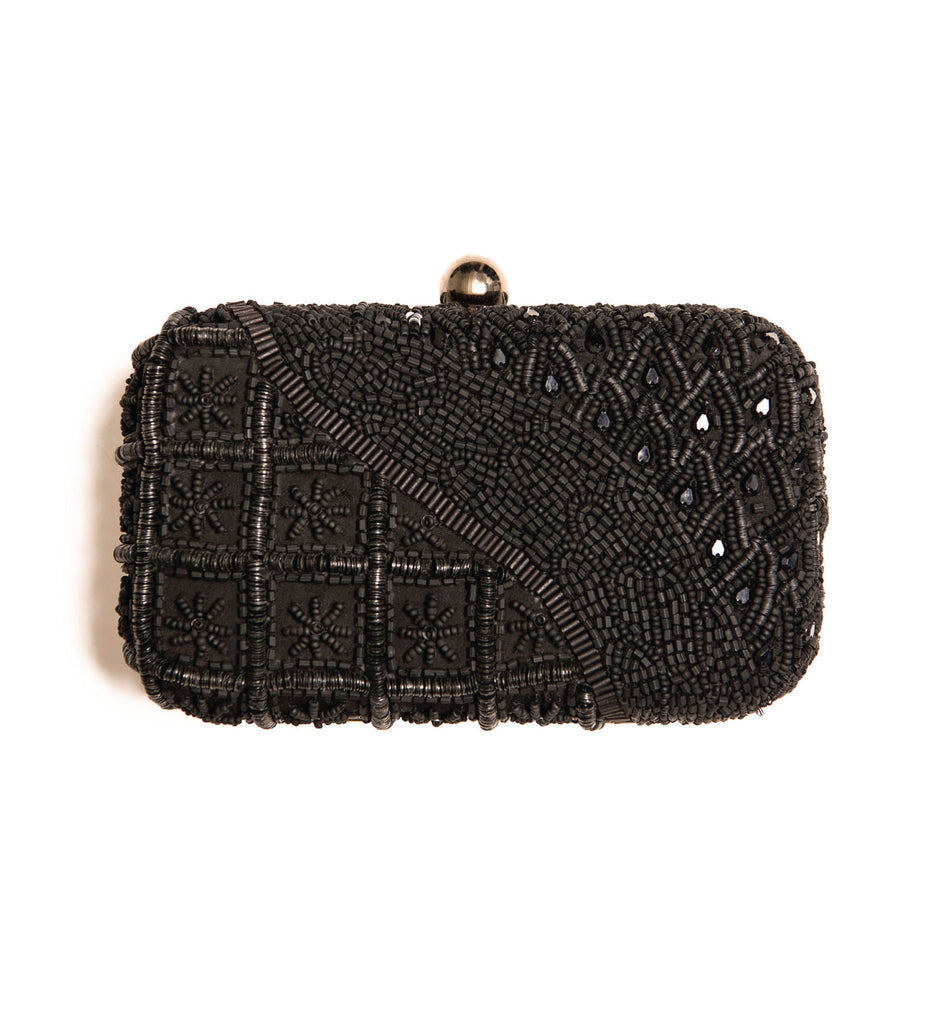 KENDALL BEADED CLUTCH BAG