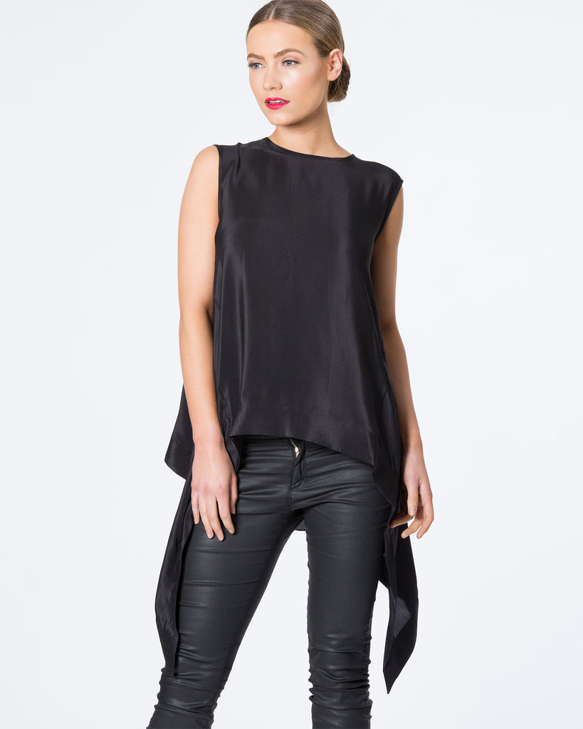 BATWING SILK TOP