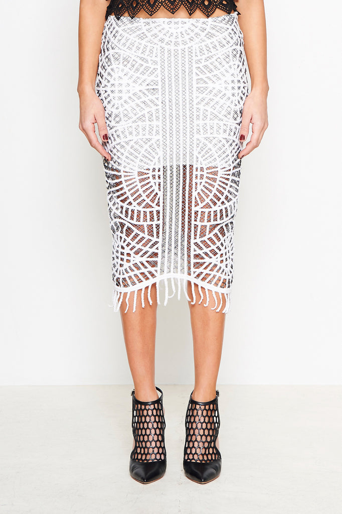 ART DECO FRINGE SKIRT