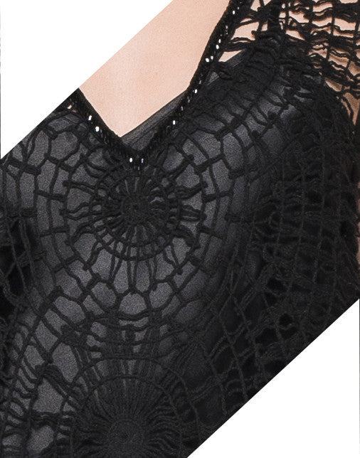 BEADED WEAVED SPIDERWEB TOP