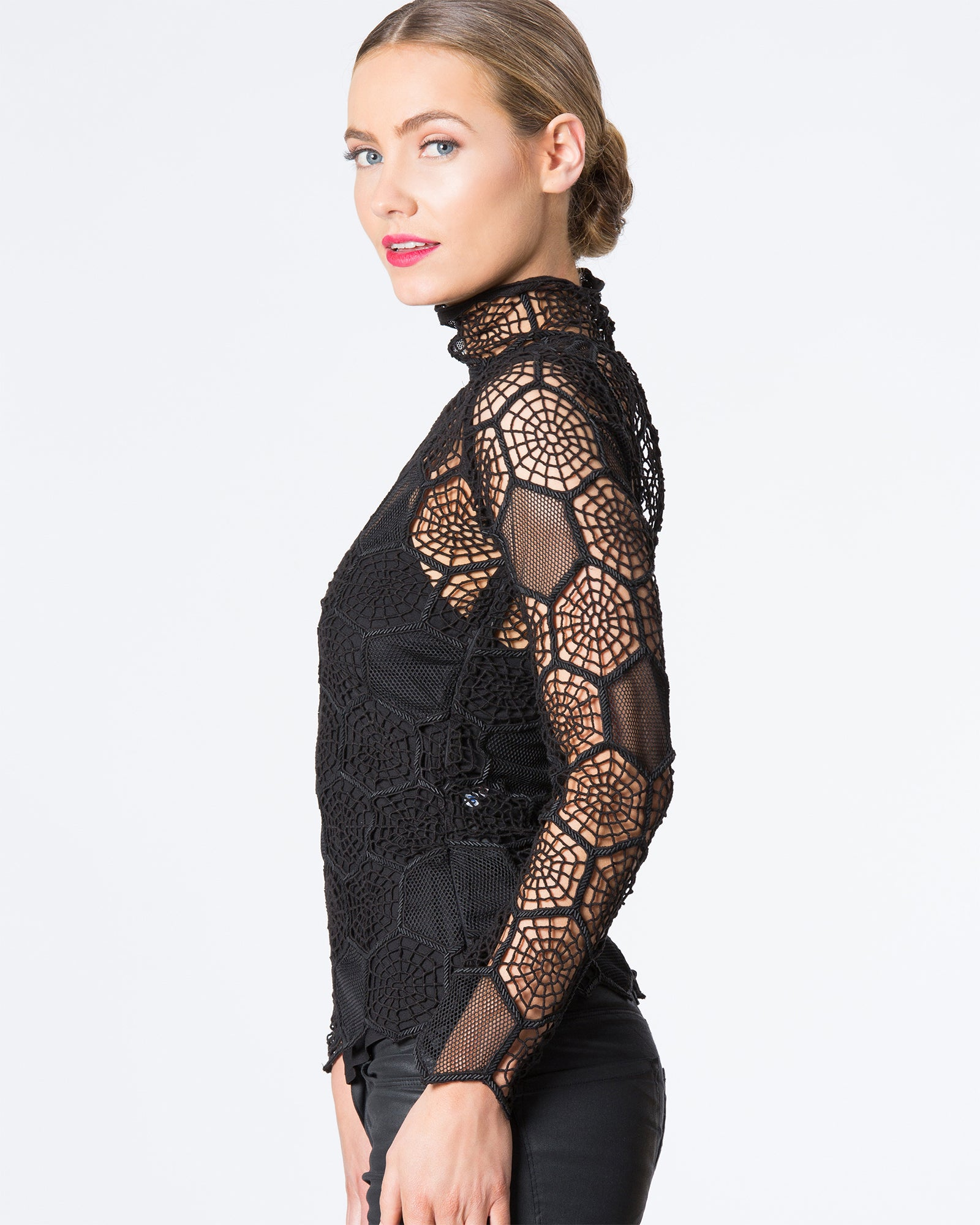 HONEYCOMB LONG SLEEVED TOP