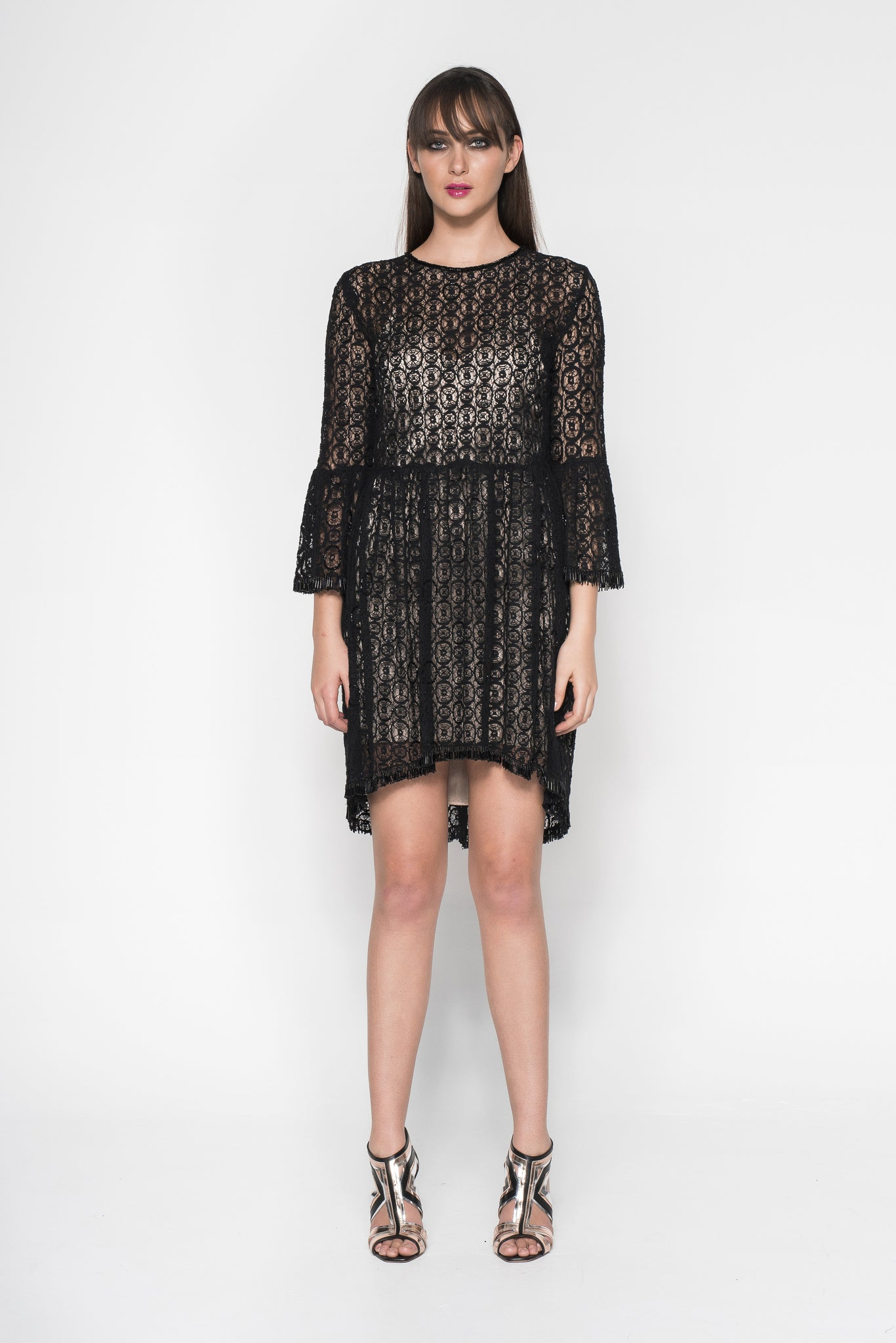 BEADED LACE DRESS