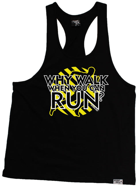 Personal Best Why Walk When You Can Run Running Men's Tank Top