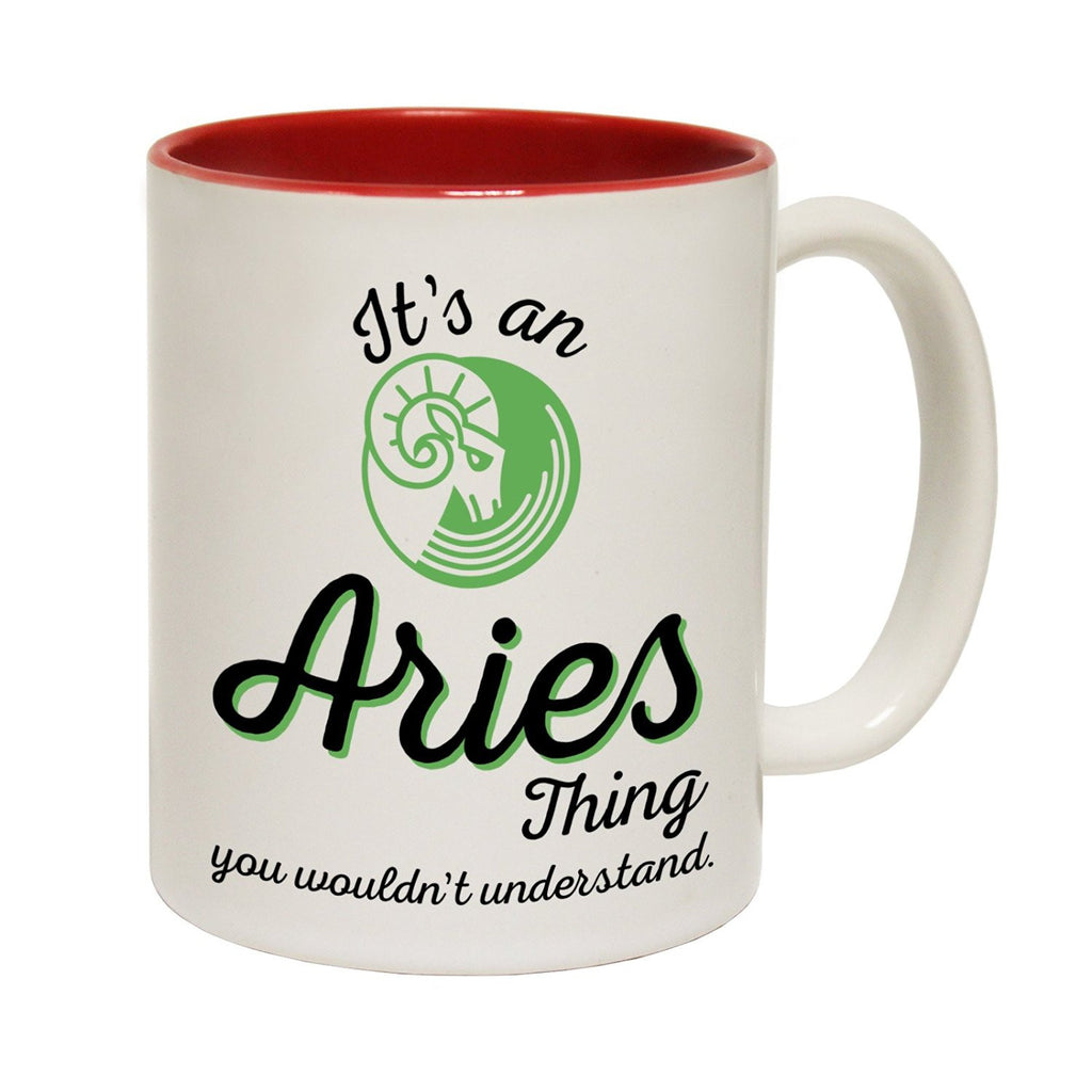 123t USA It's An Aries Thing Starsign Funny Mug