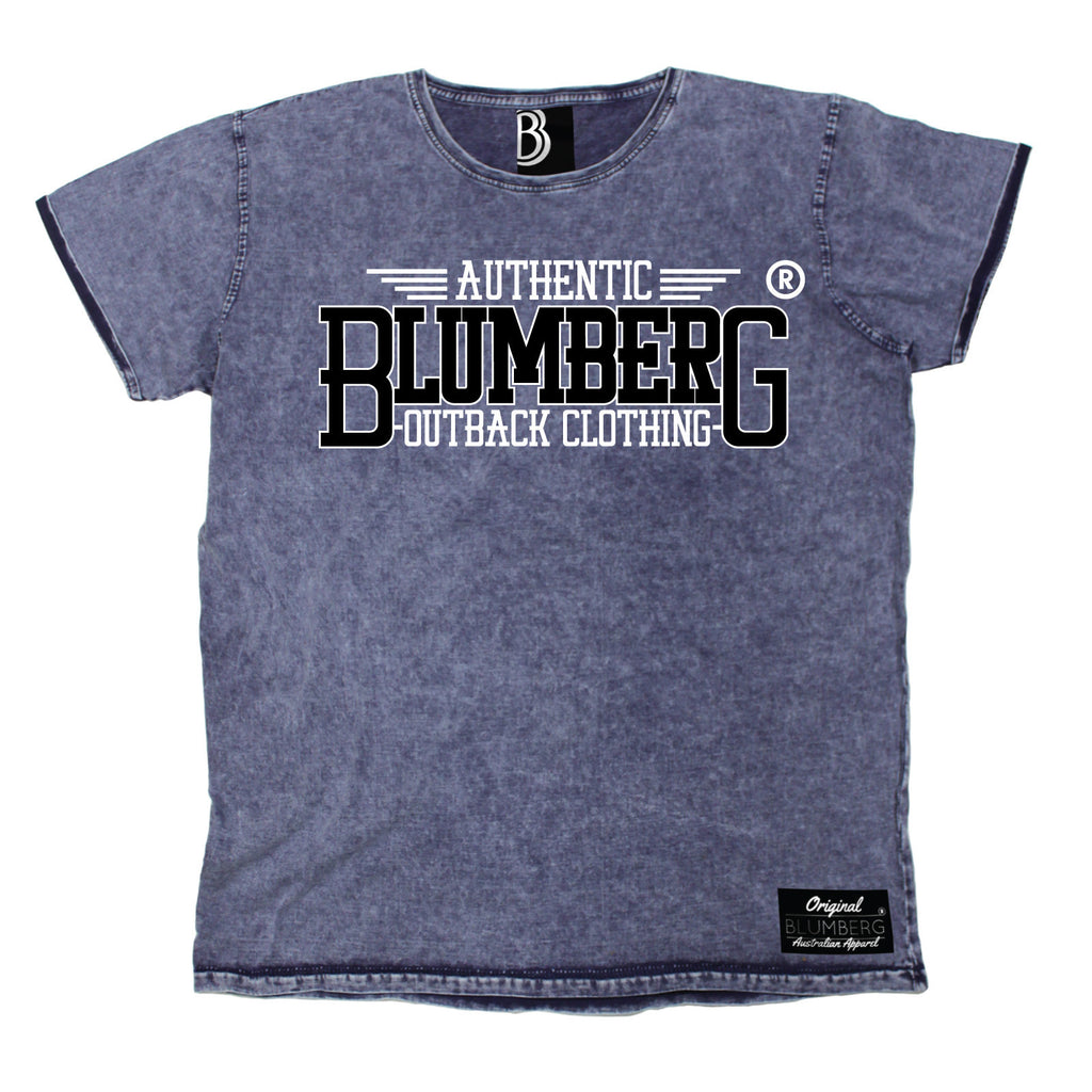 Blumberg Men's Authentic Blumberg Outback Clothing Premium Denim T-Shirt