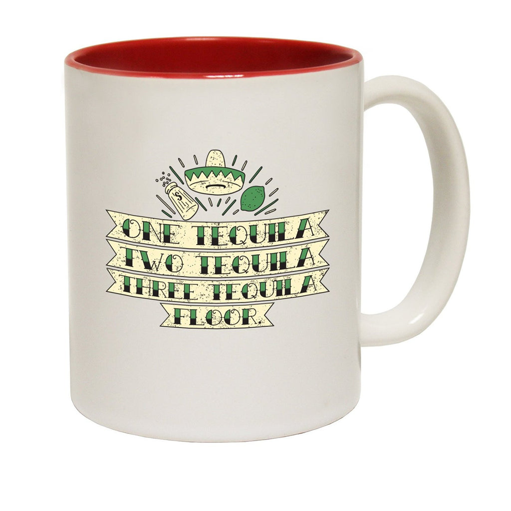 123t USA One Tequila Two ... Floor Funny Mug