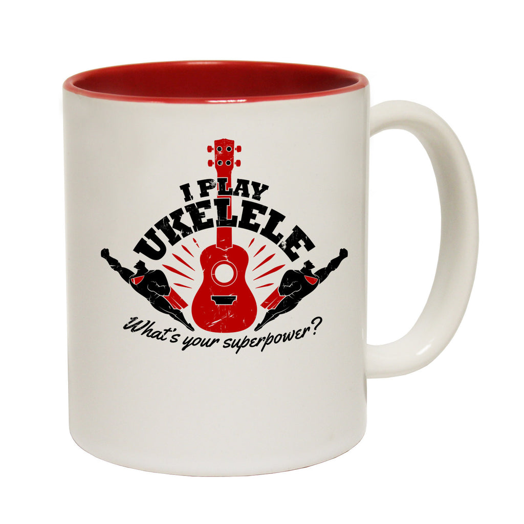 123t USA I Play Ukulele ... Superpower Funny Mug