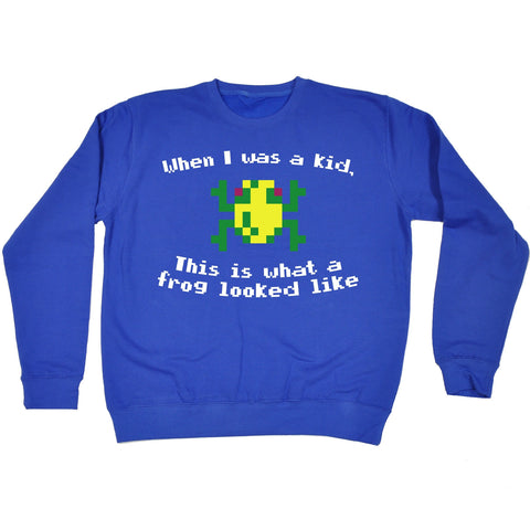123t USA When I Was A Kid This Is What A Frog Looked Like Frog Design Funny Sweatshirt