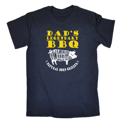 123t USA Men's Dad's Legendary Bbq Natural Born Griller Funny T-Shirt