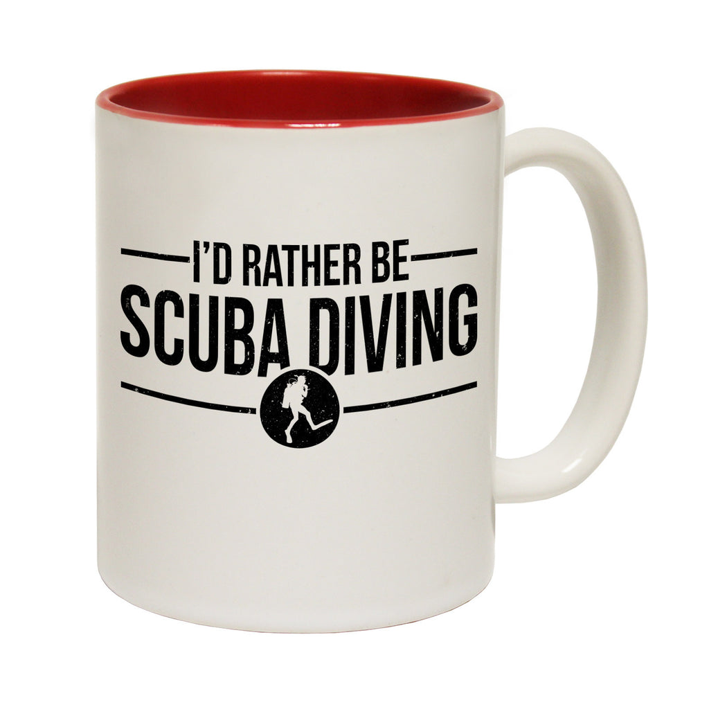Open Water I'd Rather Be Funny Scuba Diving Mug