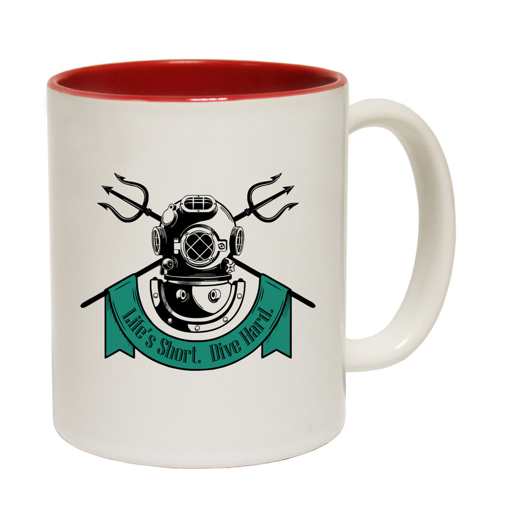 Open Water Life's Short Dive Hard Funny Mug