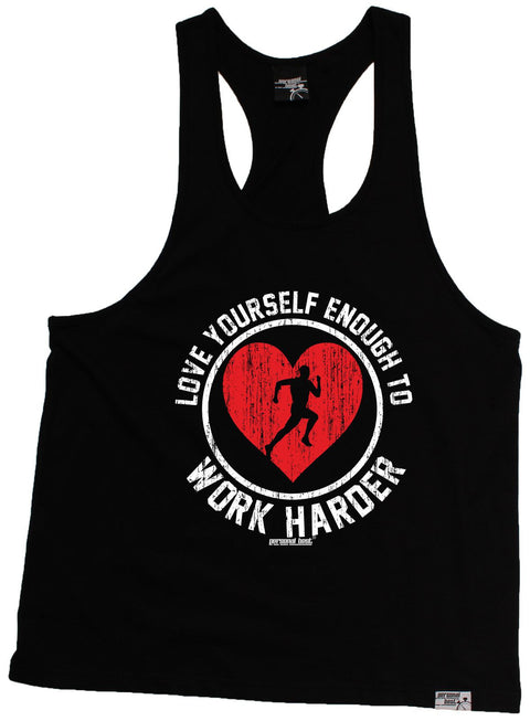 Personal Best Love Yourself Enough Work Harder Running Men's Tank Top