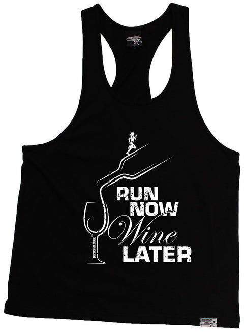 Personal Best Run Now Wine Later Running Men's Tank Top