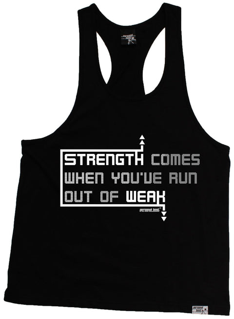 Personal Best Strength Comes Run Out Of Weak Running Men's Tank Top