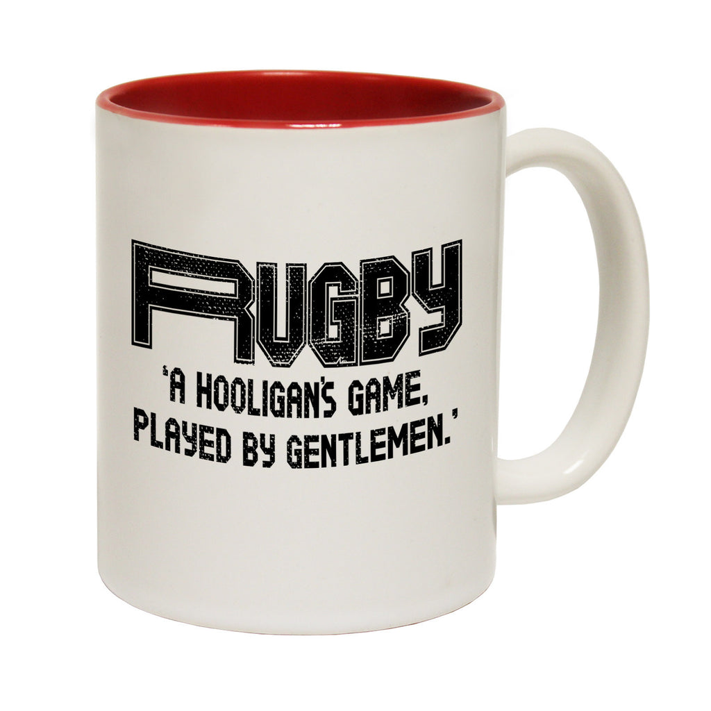 Up And Under Rugby ... Hooligan's ... Gentlemen Funny Mug