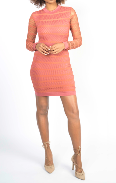 Orange Fitted Bodycon Dress