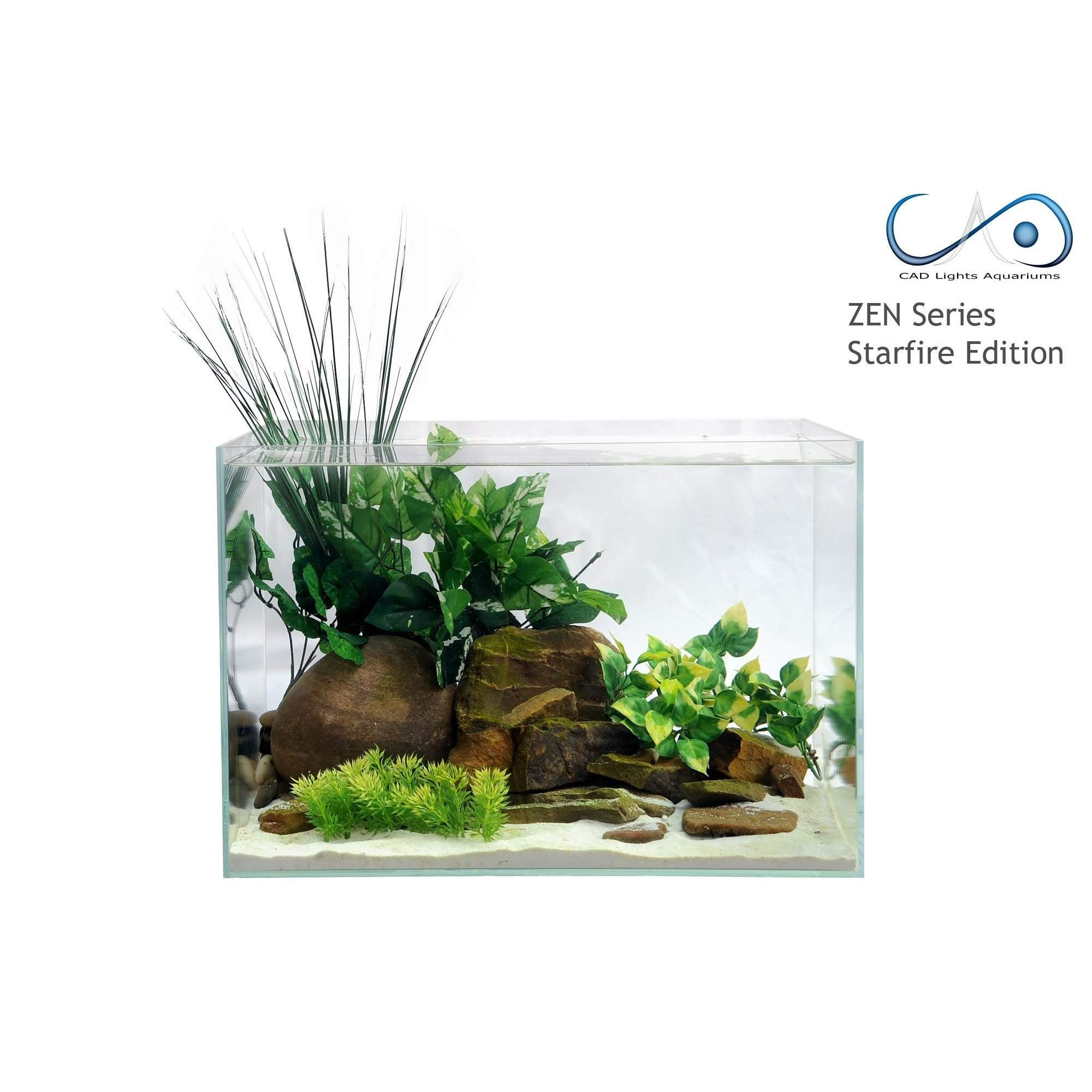 5.05 Gallon Zen Series Ultra Clear Low-Iron Glass Aquarium - Rimless Aquarium - Aquarium Creation