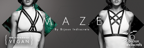 Maze by Bijoux Indiscrets BDSM Inspired, vegan leather,