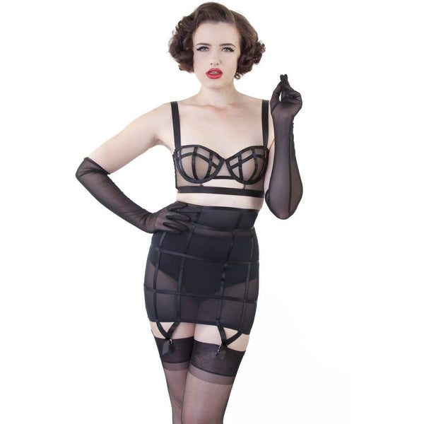BETTIE PAGE MESH GLOVES, Lingerie, Playful Promises - Passionate Jade