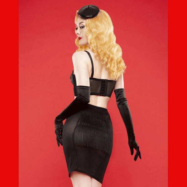 Bettie Page Tassle Lingerie Skirt, Lingerie, Playful Promises - Passionate Jade