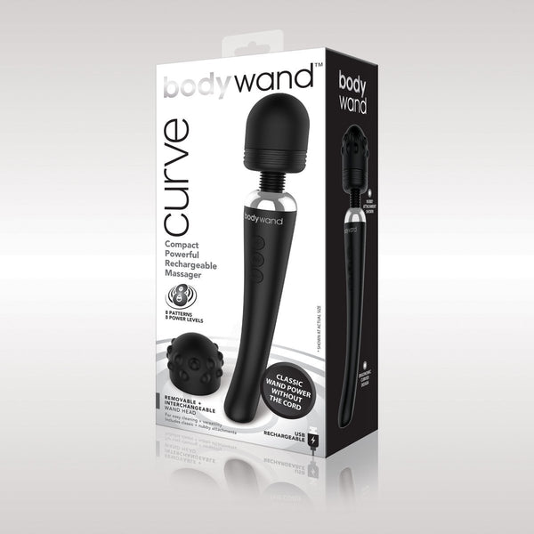 Bodywand Curve Rechargeable, Wands & Massagers, BodyWand - Passionate Jade