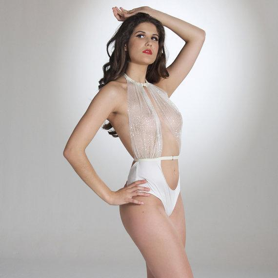 Lana Bodysuit - Cream, Lingerie, Nearer The Moon - Passionate Jade