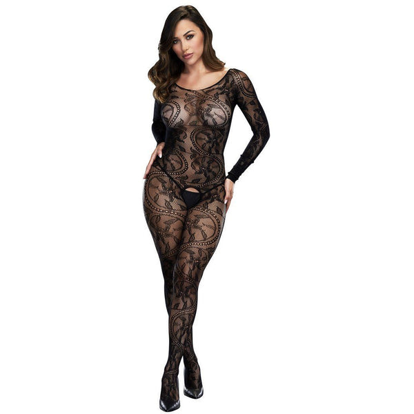 Longsleeve lace crotchless bodystocking, Lingerie, Baci - Passionate Jade